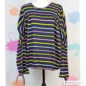 NWT PROJECT RUNWAY Striped Blouse - Women's Large